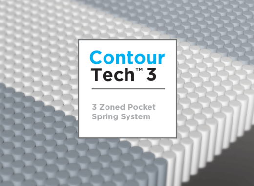 Contour Tech™ 3 Zoned Pocket Spring System